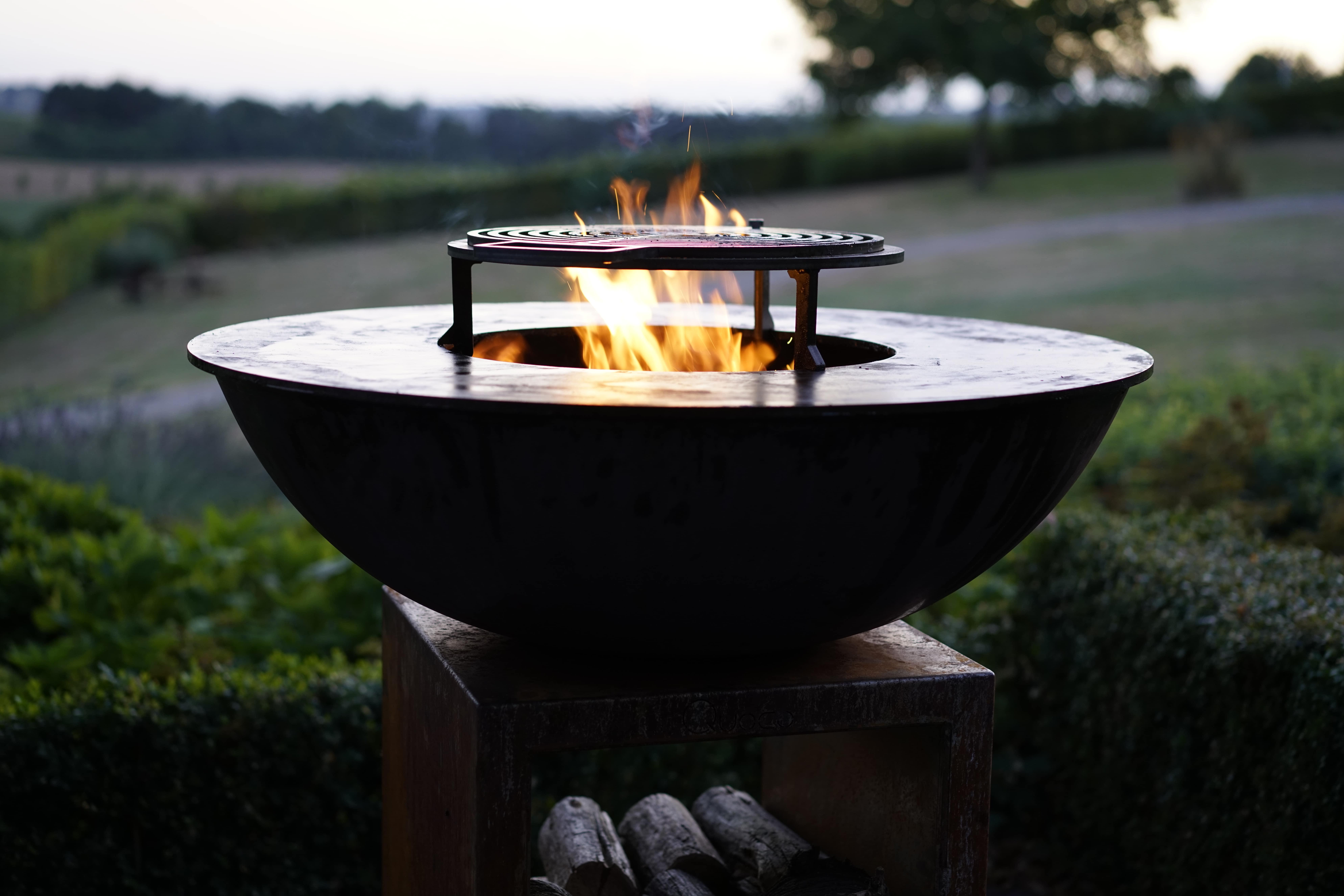 BBQ - Quoco Piatto Large Flames Corten-min